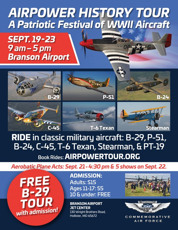 AirPower History Tour Lands In the Ozarks: A Patriotic